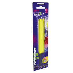 15.5cm Bright Yellow Sparklers (Pack of 10)
